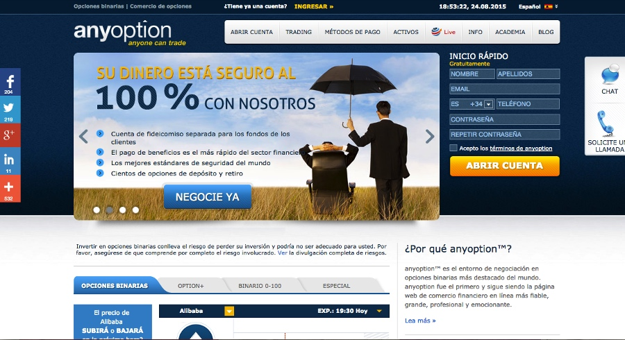 Comercio de opciones binarias anyoption